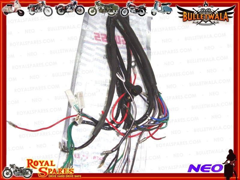 6v COMPLETE MAIN WIRING HARNESS EARLY ROYAL ENFIELD, Cheapest Prices