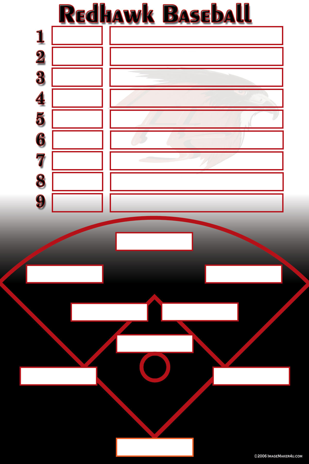 baseball field lineup