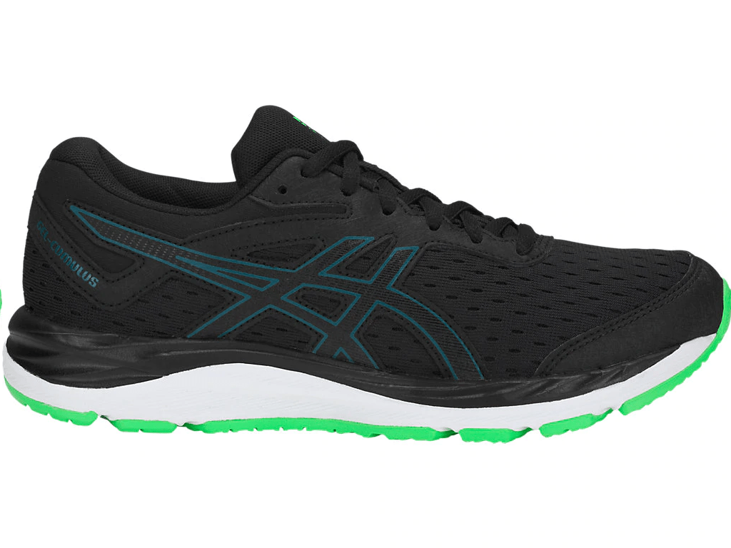 Zapatillas Con Suela De Gel Zapatillas Running Asics Gel Cumulus 20 Negro Verde Junior