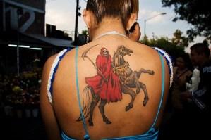 Imágenes de la santa muerte para tatuar (9)
