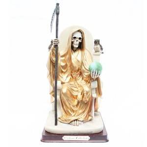 imagenes de la santa muerte dorada (3)