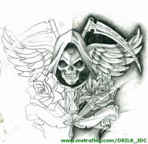imagenes de la santa muerte en dibujo (5)