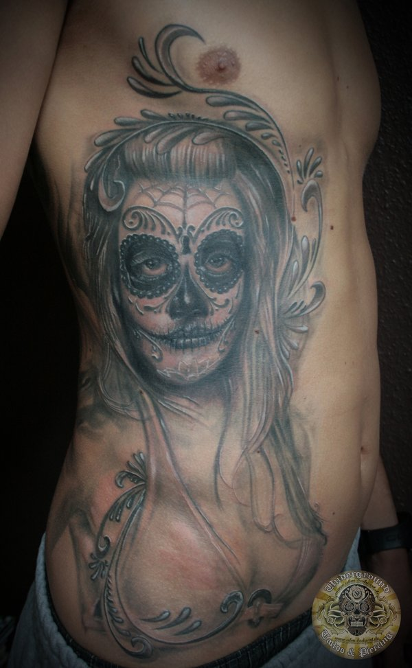 tattoos de la santa muerte originales. Black Bedroom Furniture Sets. Home Design Ideas