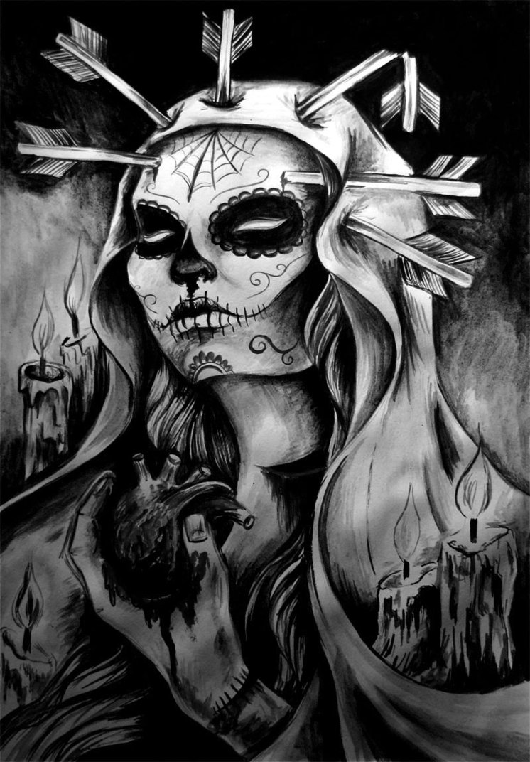 Oakland Raiders 3d Wallpaper Imagenes De La Santa Muerte71 Im 225 Genes De La Santa Muerte