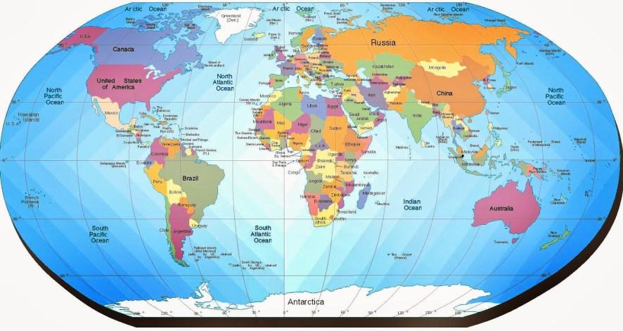 Resultado de imagen de mapa del mundo con nombres