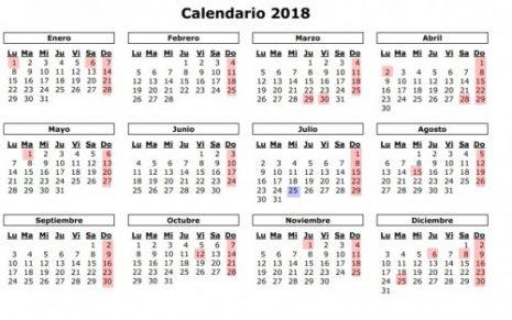Calendarios 2017-2018 para descargar y compartir en WhatsApp 2018