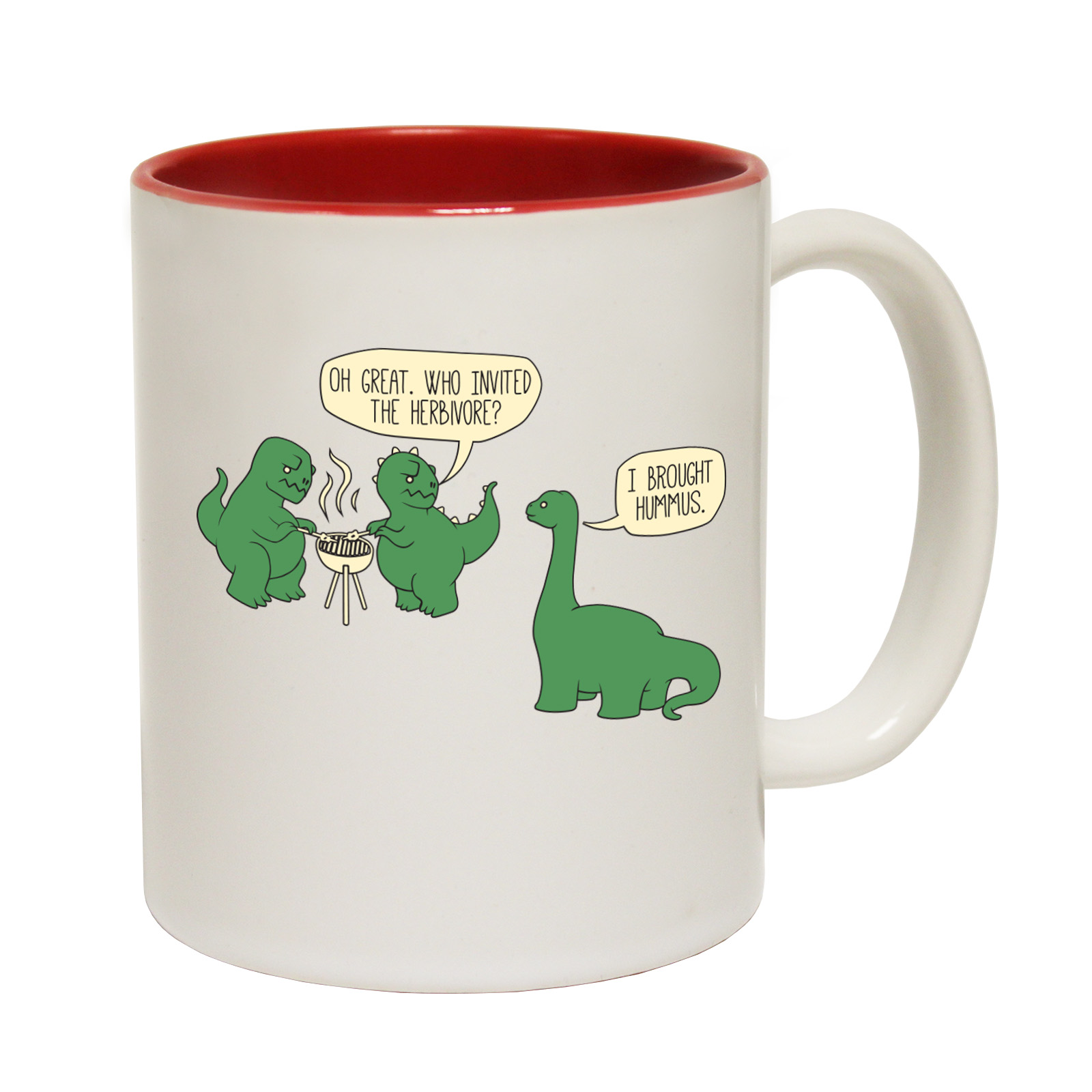 Weird Mugs Funny Mugs Dinosaur Barbeque Comedy Sarcasm Birthday