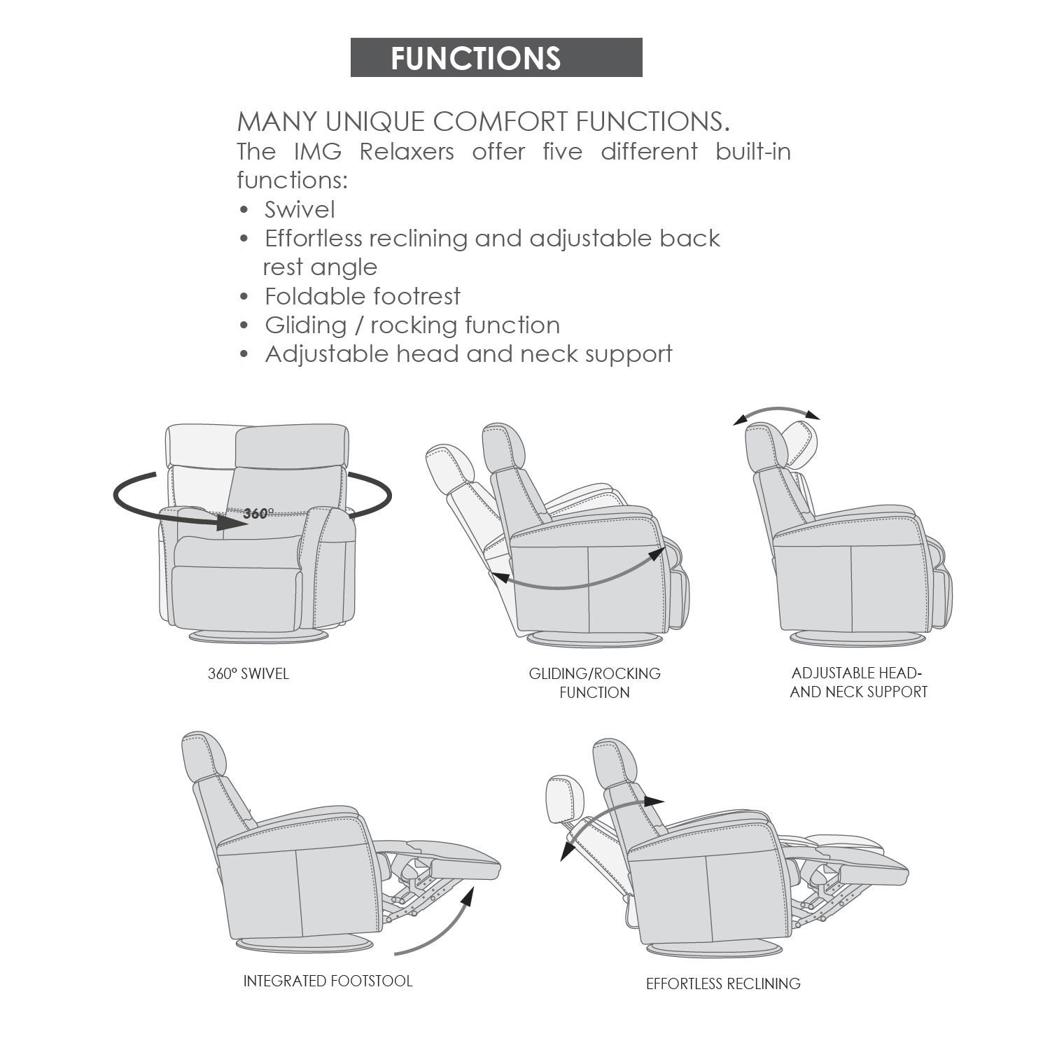 Divani Recliner Manuale Divani Compact Size Manual Recliner With Swivel Glide And Rock