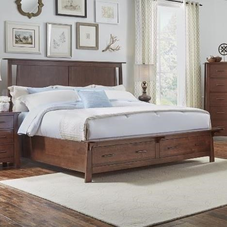 Bedding Storage Sodo Queen Panel Storage Bed With Bench Platform By Aamerica At Van Hill Furniture