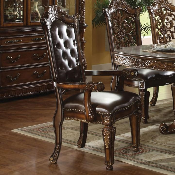 Arm Chairs Vendome Traditional Dining Arm Chair By Acme Furniture At Del Sol Furniture