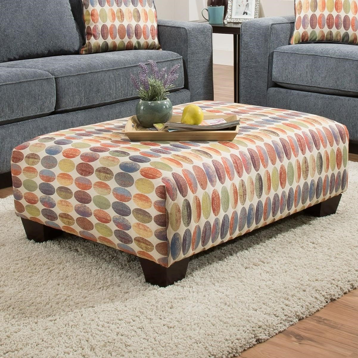 Colorful Ottoman Coffee Table Albany 451 Accent Ottoman In Colorful Geometric Pattern A1