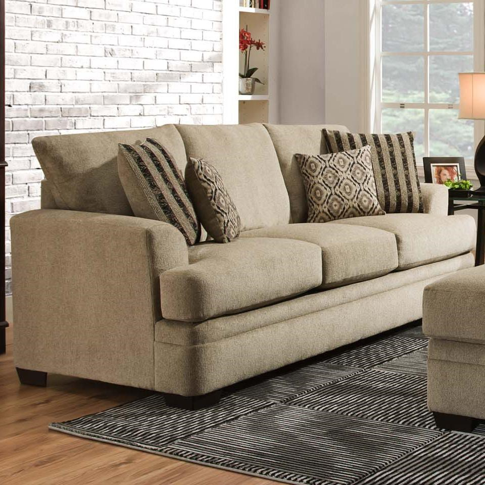 American Sofa Images 3650 Casual Queen Sofa Sleeper With 3 Seats By American Furniture At Rooms For Less
