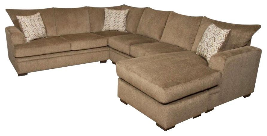 Chaise Style 6800 Sectional Sofa With Right Side Chaise By American Furniture At Prime Brothers Furniture