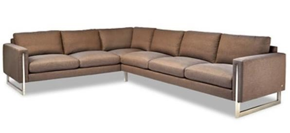 Sofa With Foam Seats American Leather Savino Contemporary Sectional Sofa With Track