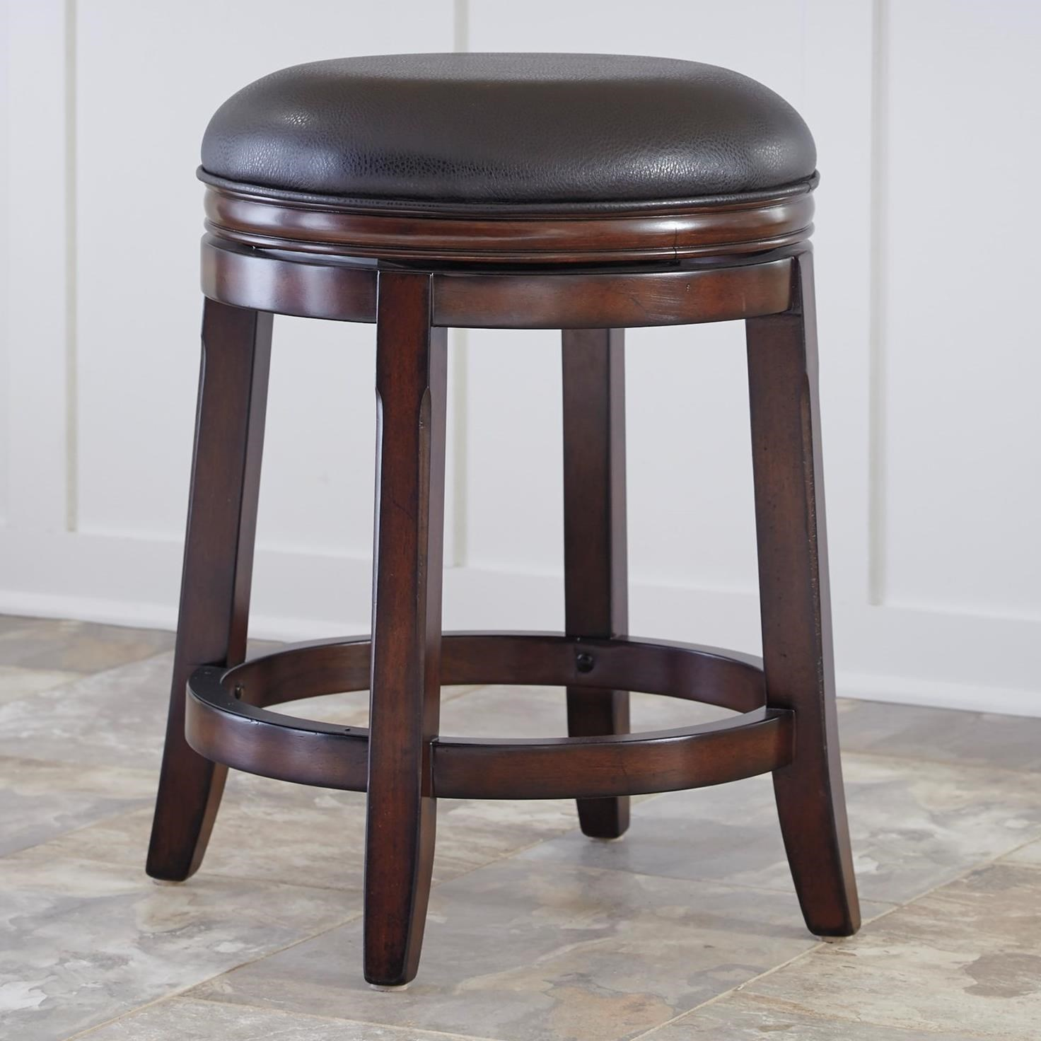 Fabric Counter Height Bar Stools Porter Counter Height Backless Upholstered Swivel Stool By Millennium At Rooms And Rest