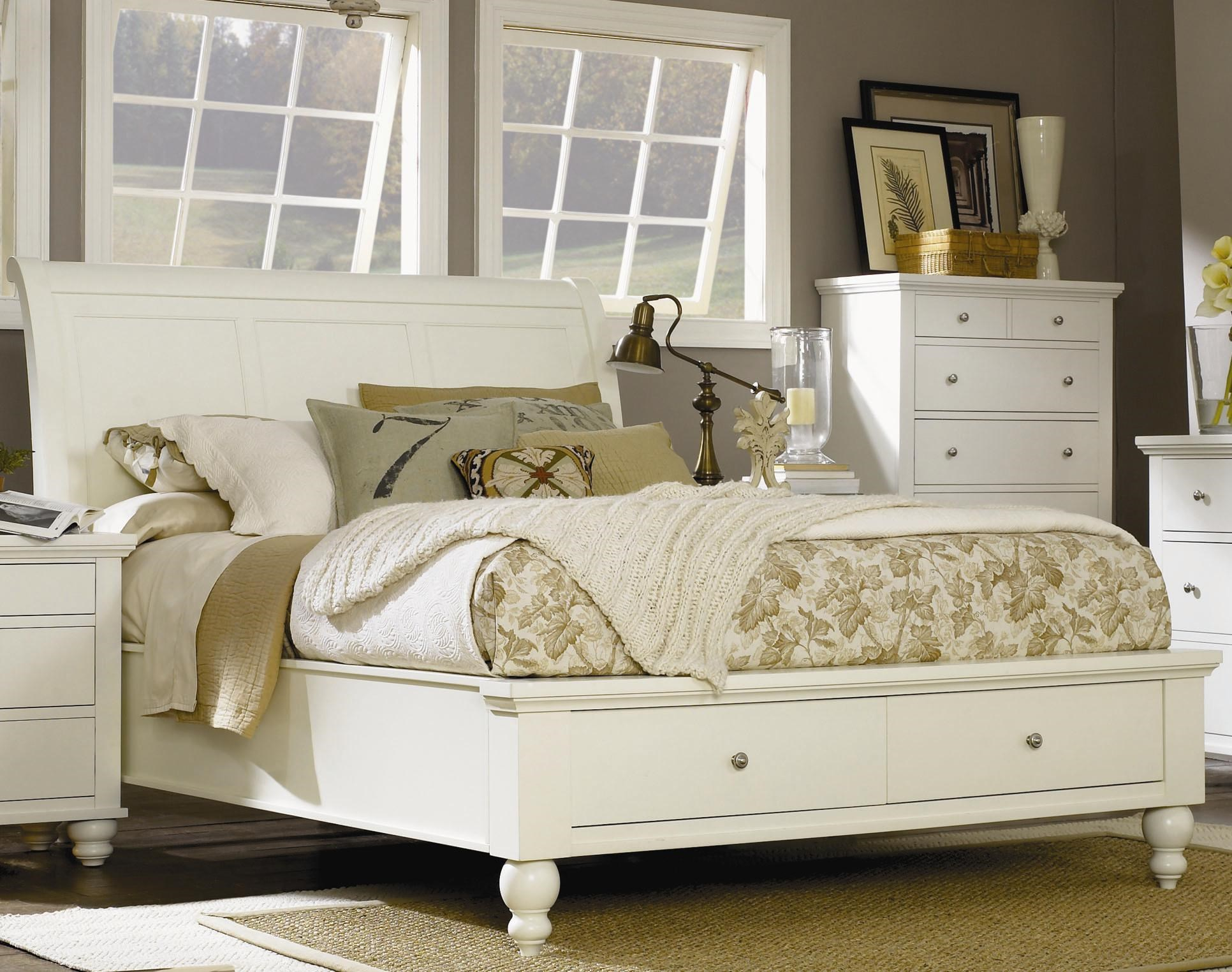 Bedding Storage Clinton King Size Bed With Sleigh Headboard Drawer Storage Footboard By Highland Court At Morris Home