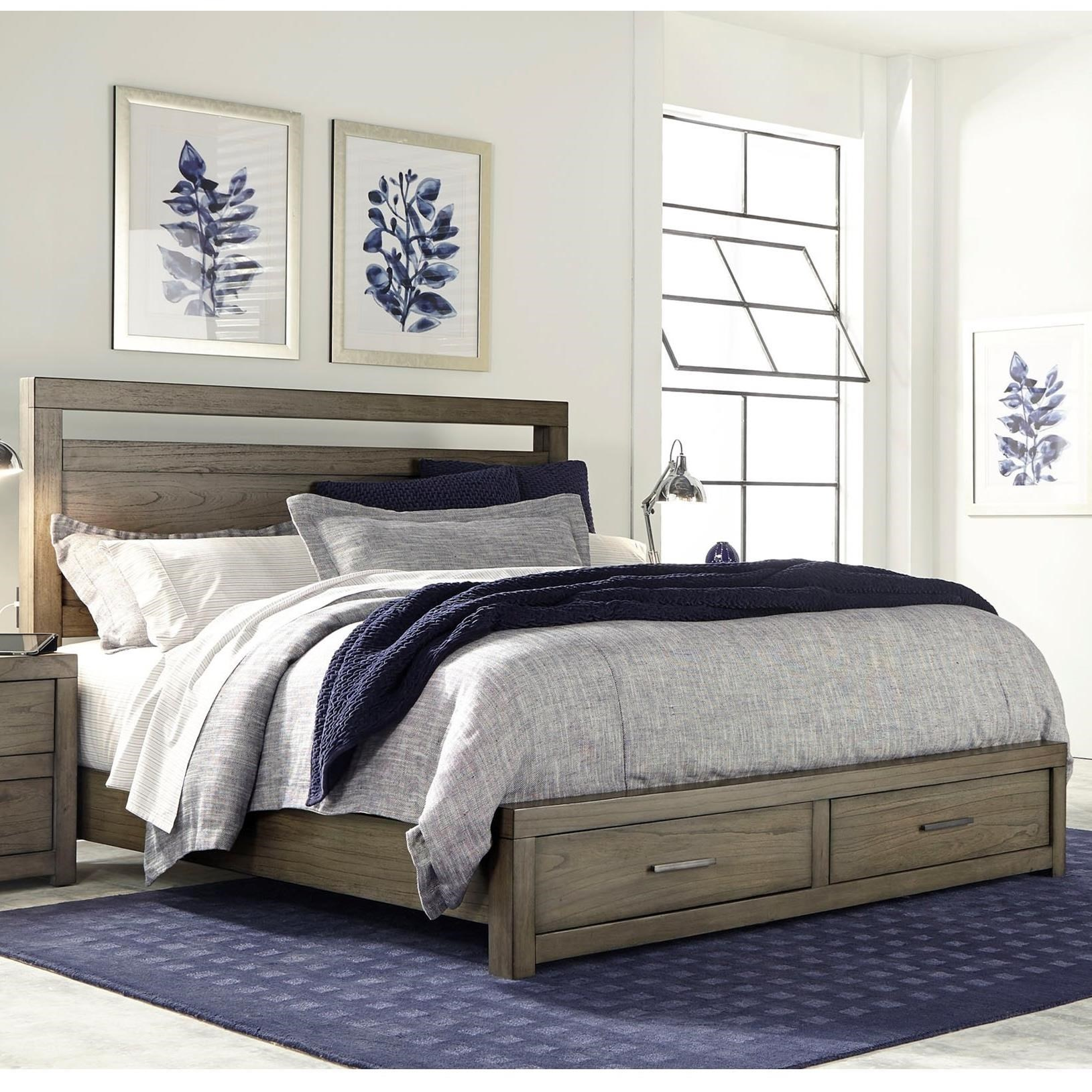 Bedding Storage Moreno Queen Panel Storage Bed With Usb Charging Outlets By Highland Court At Morris Home
