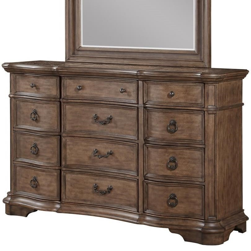 Avalon Tulsa Traditional 12 Drawer Dresser With Cedar Lining Royal Furniture Dressers