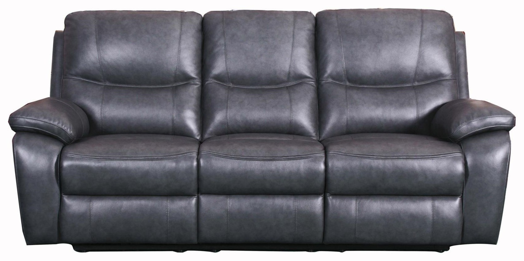 Sofa With Recliner Carter Toby Gray Sofa Recliner W Power By Barcalounger At Dream Home Furniture