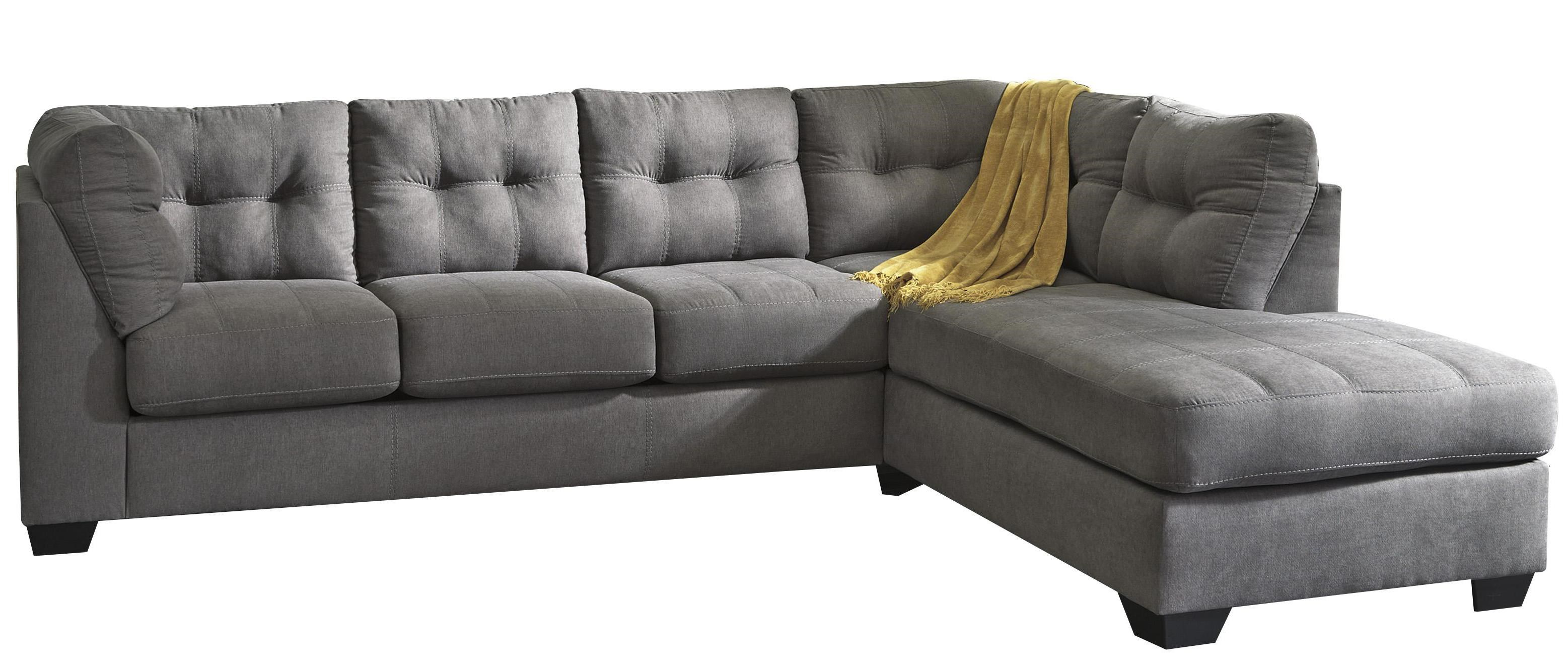 Sectional Bed Sofa Malcolm Charcoal 2 Piece Sectional With Right Chaise By Trendz At Ruby Gordon Home