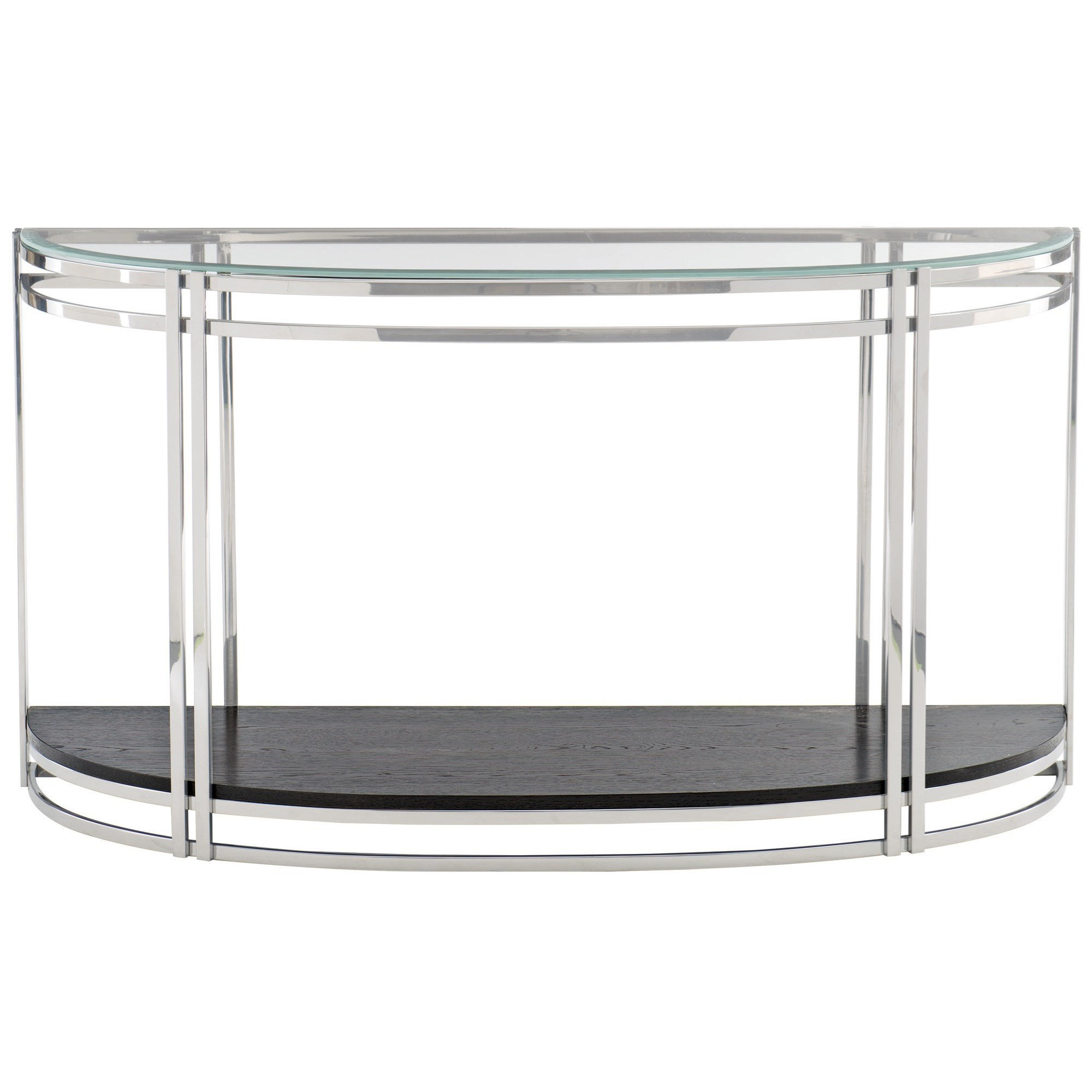 Glass Top Console Table Caden Contemporary Demilune Console Table With Glass Top By Bernhardt At Dunk Bright Furniture