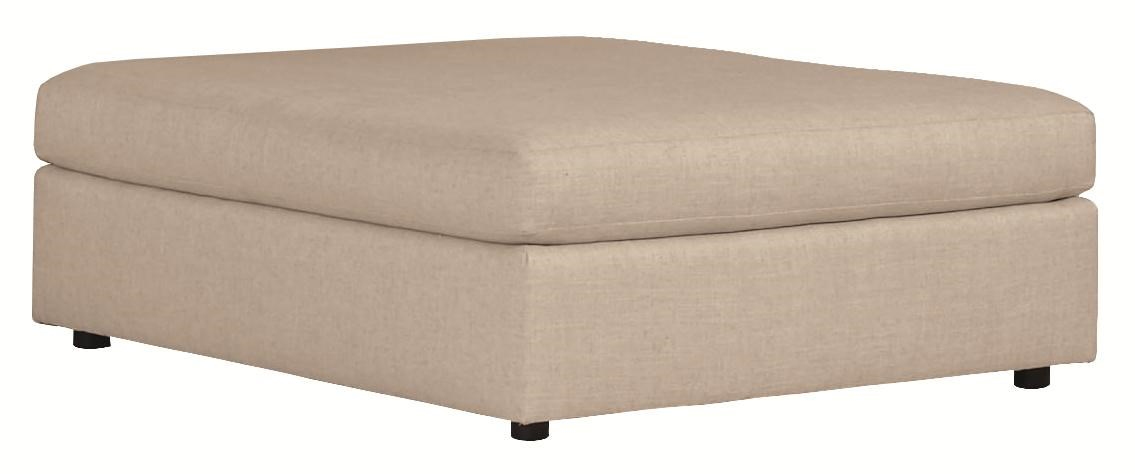 Chaise Cocktail Como Contemporary Cocktail Ottoman With Smooth Upholstered Style By Bernhardt At Wayside Furniture