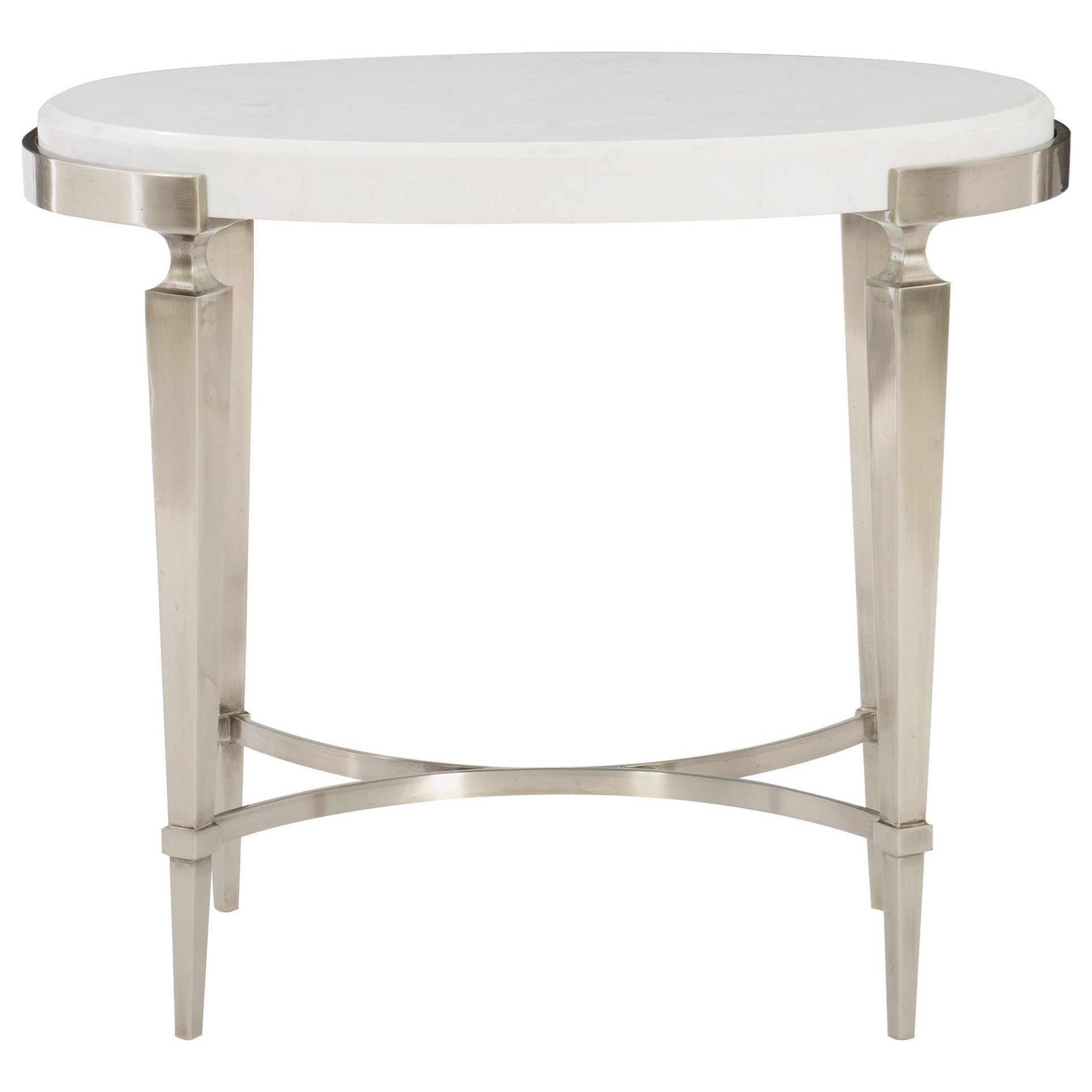 Table Metal Blanc Bernhardt Domaine Blanc Transitional Side Table With Laminated