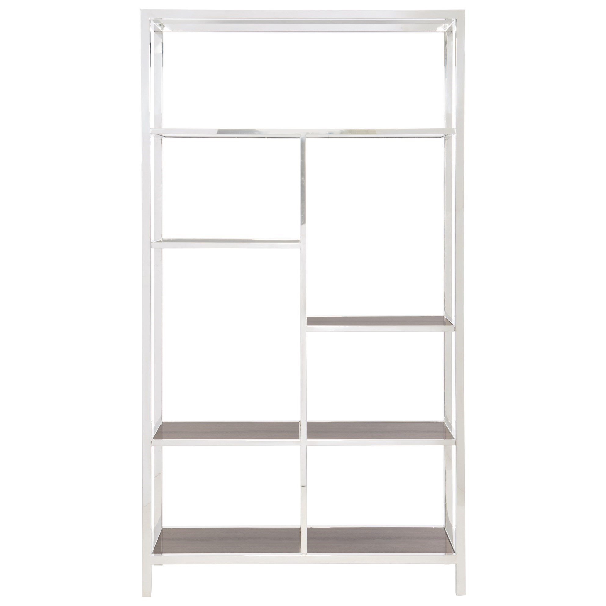 Etagere Metal Halton Metal Etagere With Stone Grain Tempered Glass By Bernhardt At Dunk Bright Furniture