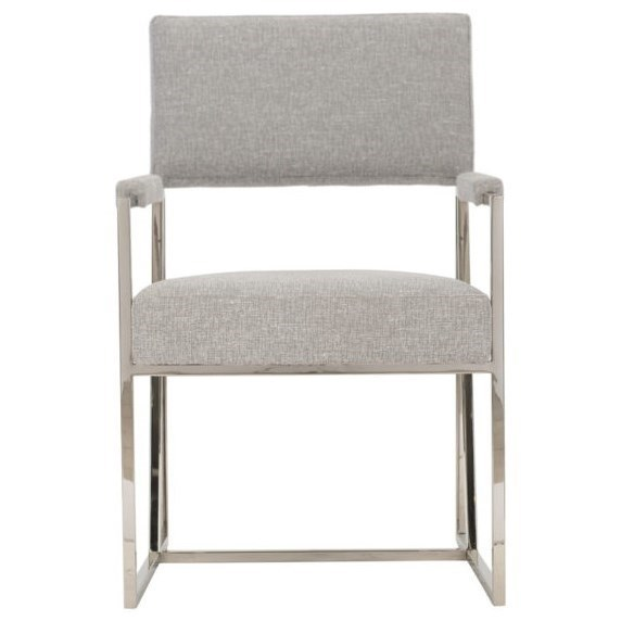 Bernhardt Interiors Hayes 396 546 Contemporary Dining Arm Chair With Metal Frame Thornton Furniture Dining Arm Chairs