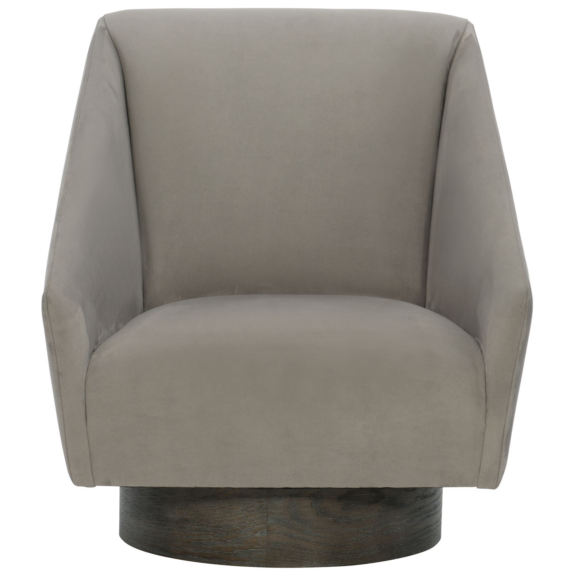 Bernhardt Interiors Milano Contemporary Upholstered Swivel Chair With Exposed Base Howell Furniture Upholstered Chairs
