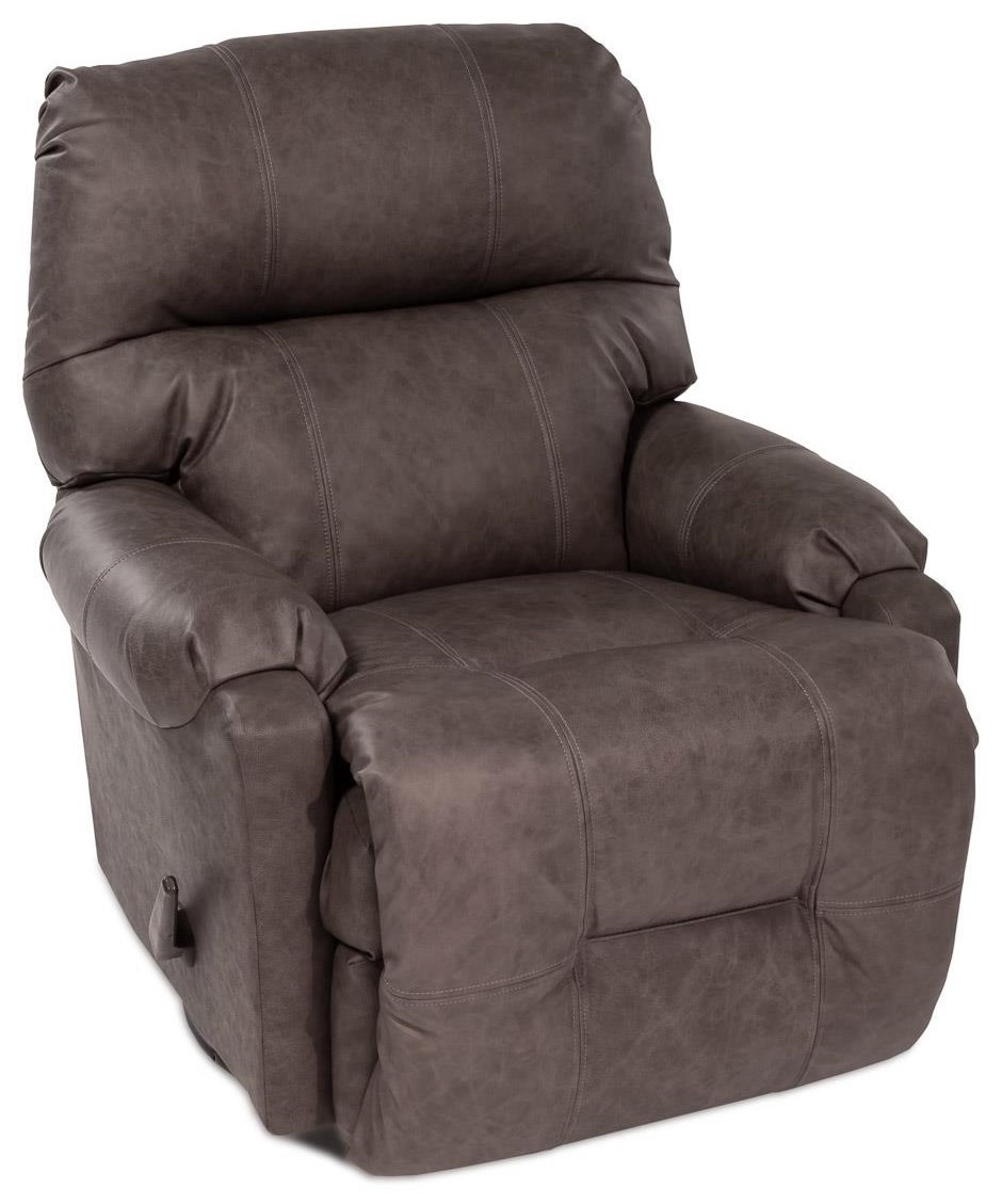 Best Rated Small Recliners Petite Recliners Leather Swivel Rocker Recliner By Best Home Furnishings At Rotmans