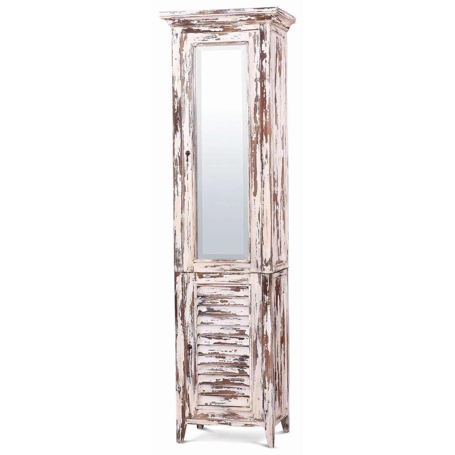 Tall Bathroom Cabinet With Mirror Bramble Aries Shutter Tall Bath Cabinet W Mirror Howell