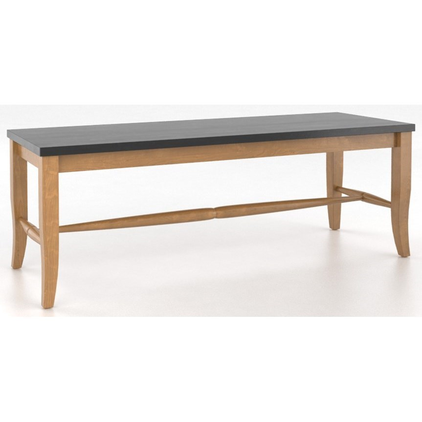 Wooden Bench Table Custom Dining Customizable 3 Seat Wooden Bench By Canadel At Dunk Bright Furniture