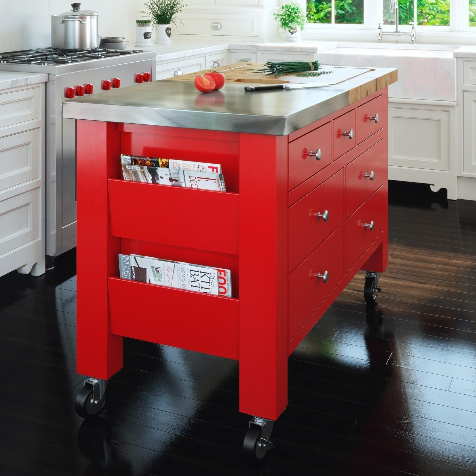 Chopping Block Kitchen Island Canadel Gourmet Customizable Kitchen Island With Removable Butcher