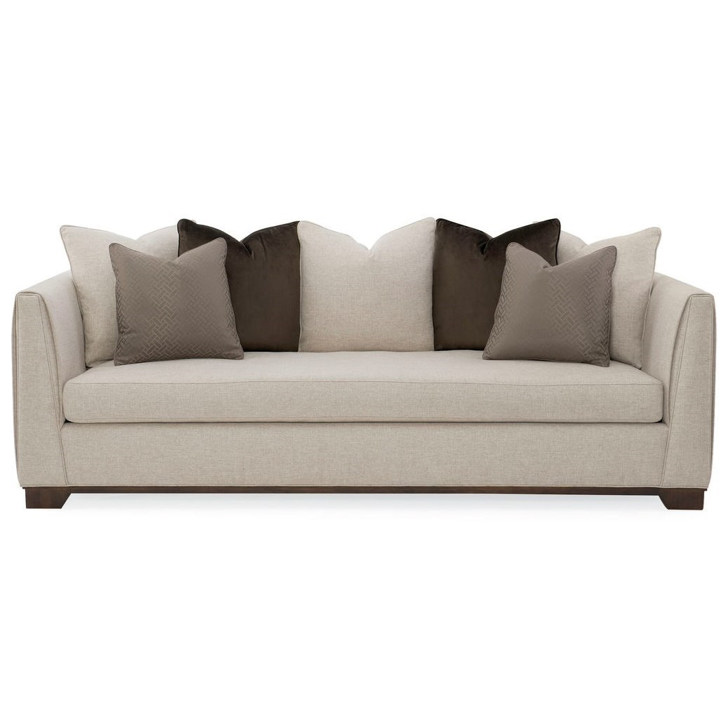 Moderne Sofa Caracole Caracole Upholstery Moderne Tuxedo Sofa With