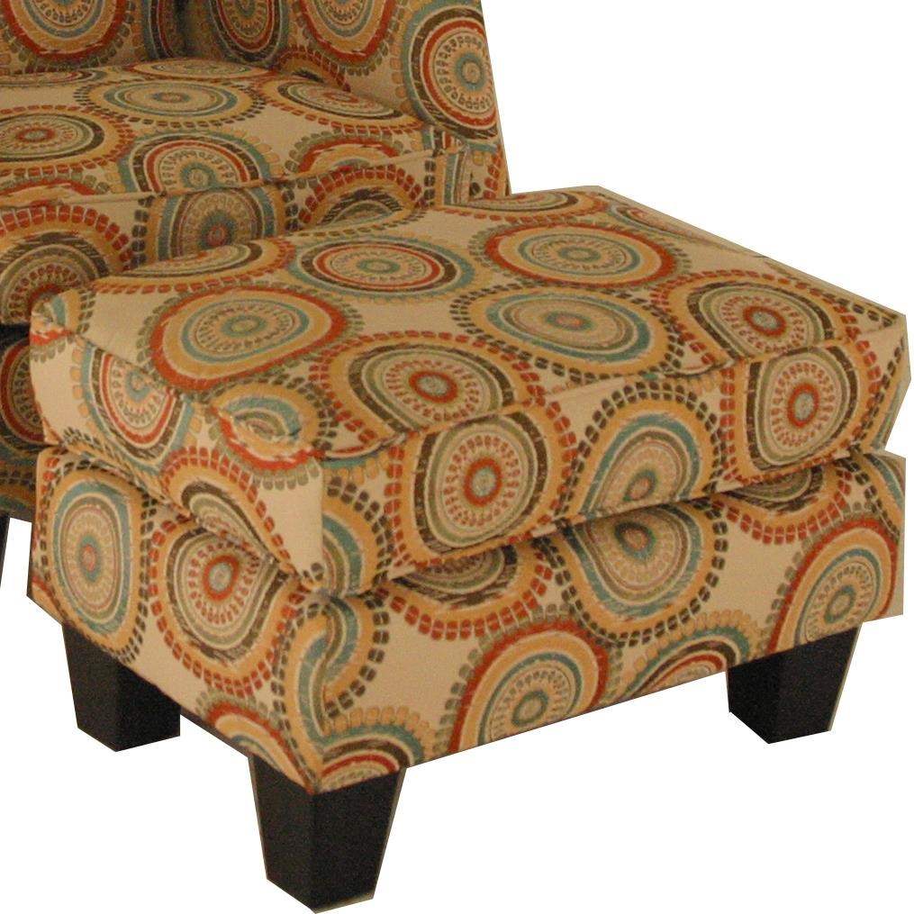 Chair Ottoman Accent Chairs And Ottomans Transitional Ottoman With Block Feet By Chairs America At Miskelly Furniture
