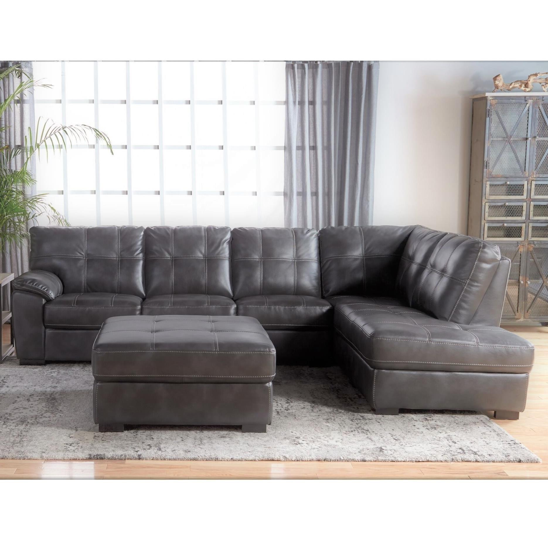 Furniture Chaise 5312 Tufted Sectional With Bumper Chaise By Cheers At Van Hill Furniture