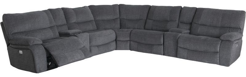 Sofa Dreams Outlet 9706 7 Piece Power Headrest Reclining Sectional With 2 Consoles By Cheers Sofa At Darvin Furniture