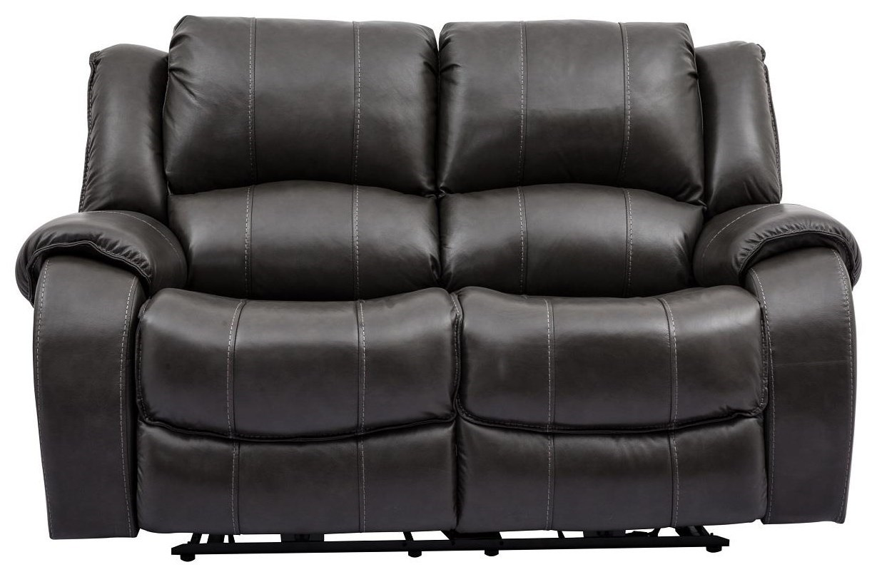 Sofa With Recliner Evan Grey Leather Power Reclining Loveseat With Power Headrests By Cheers Sofa At Great American Home Store