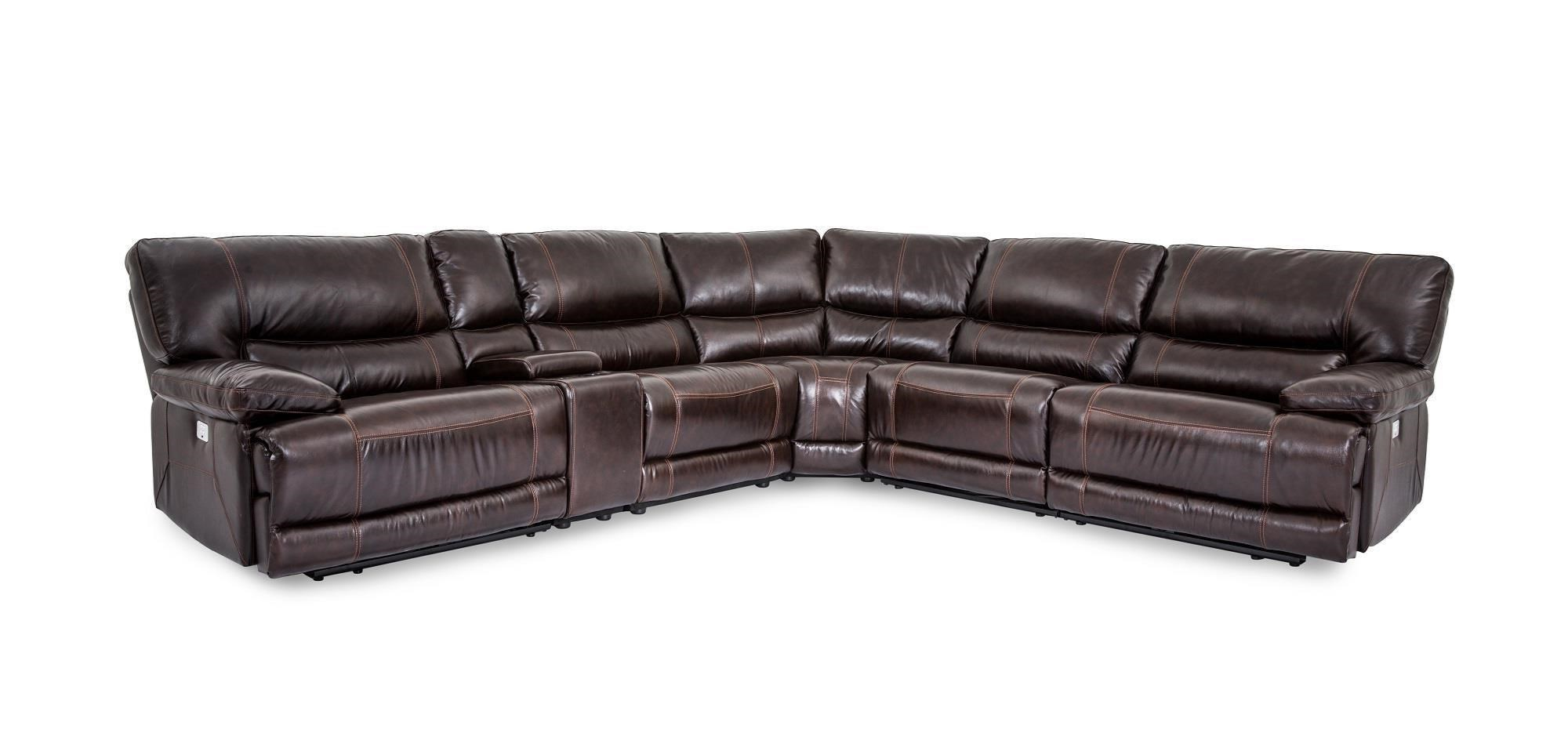 Leather Sectional Sofa Recliner X9509m Collins Leather Power Reclining 6 Piece Sectional By Cheers Sofa At Dunk Bright Furniture