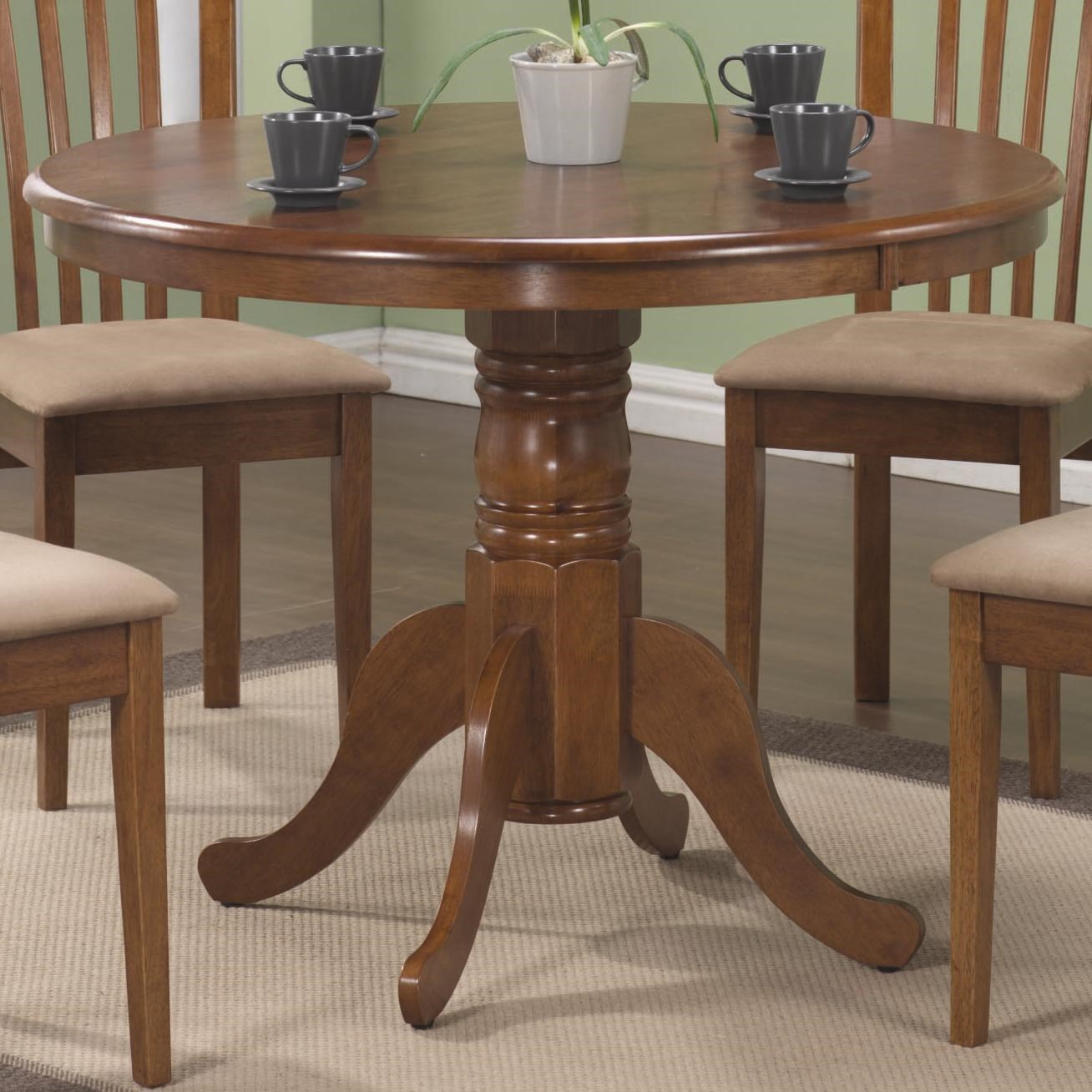 Breakfast Room Tables Brannan Round Single Pedestal Dining Table By Coaster At Dunk Bright Furniture