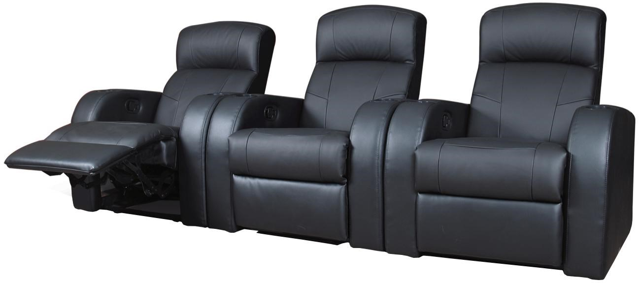 Contemporary Seating Cyrus Contemporary Leather Theater Seating By Coaster At A1 Furniture Mattress