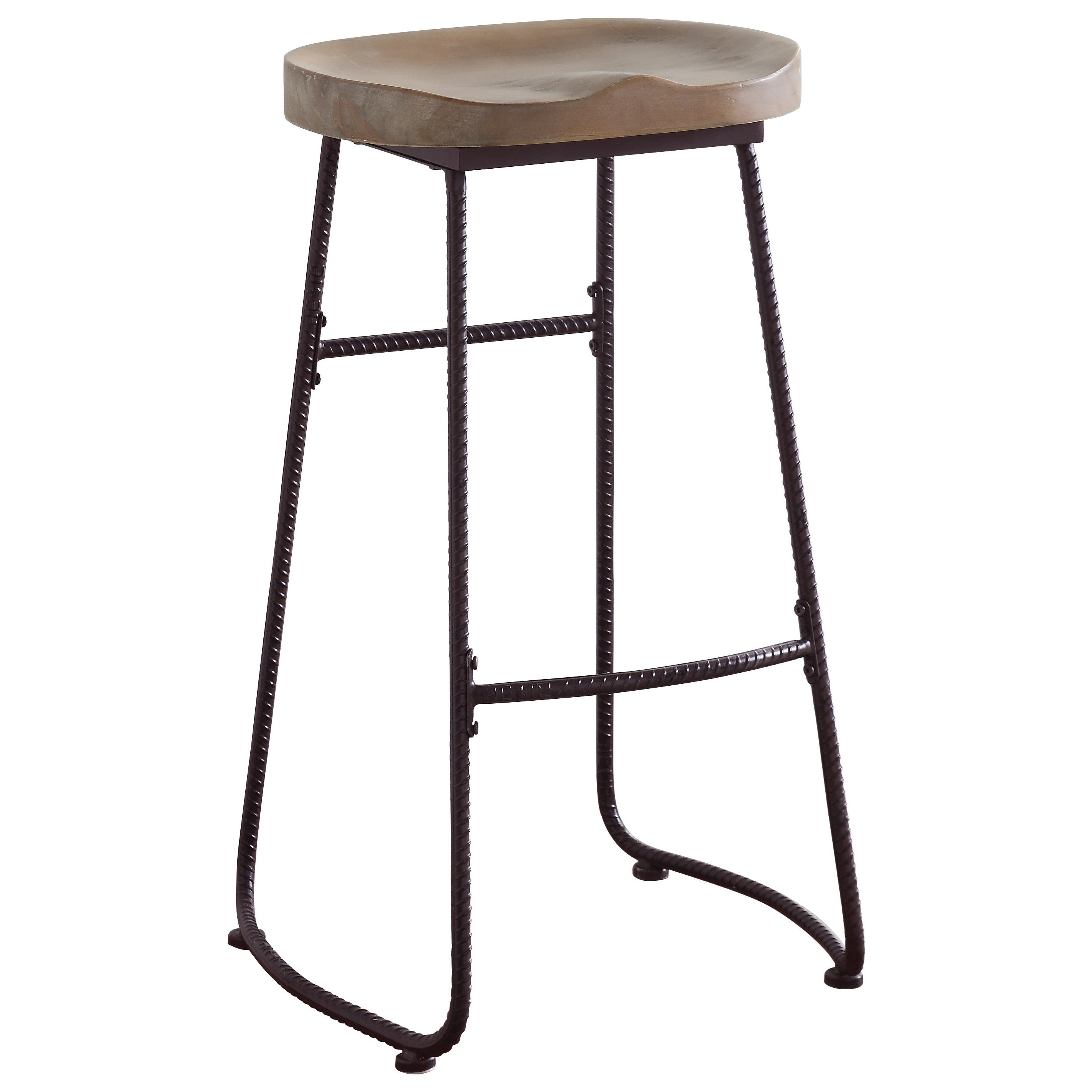 Bar Stool Chairs Dining Chairs And Bar Stools Rustic Bar Stool With Saddle Seat By Coaster At Dunk Bright Furniture