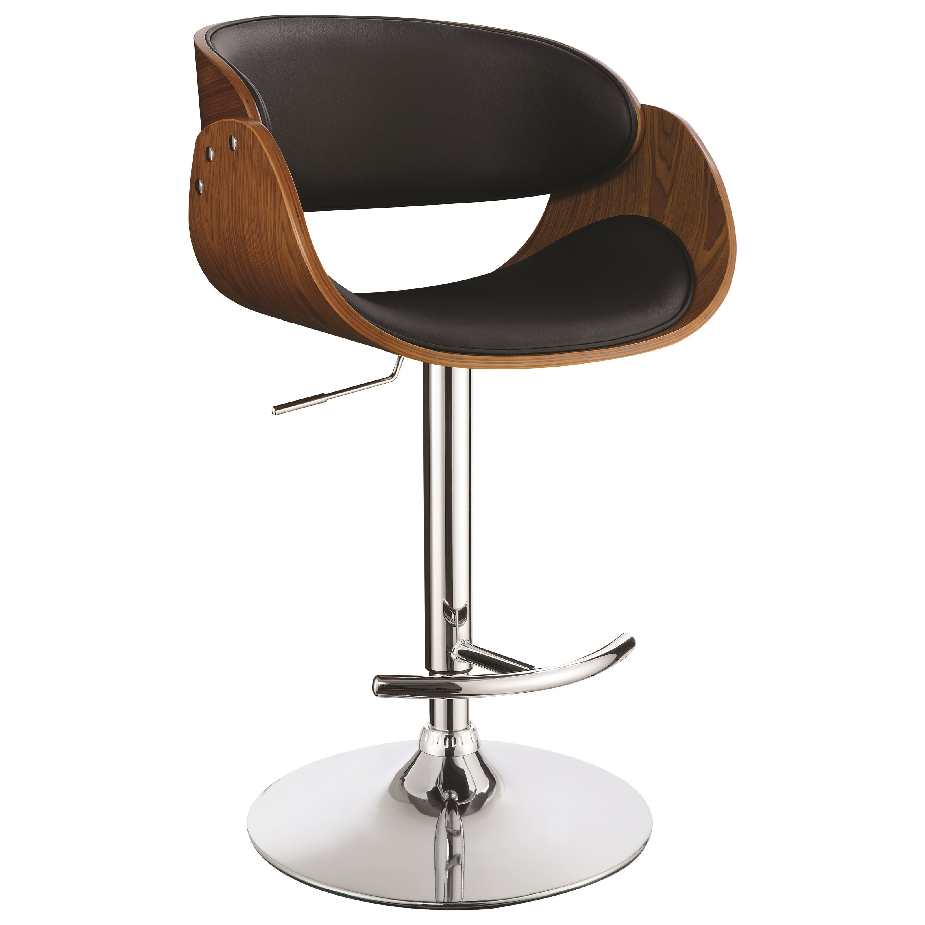 Bar Stool Chairs Dining Chairs And Bar Stools Contemporary Adjustable Bar Stool By Coaster At Dunk Bright Furniture
