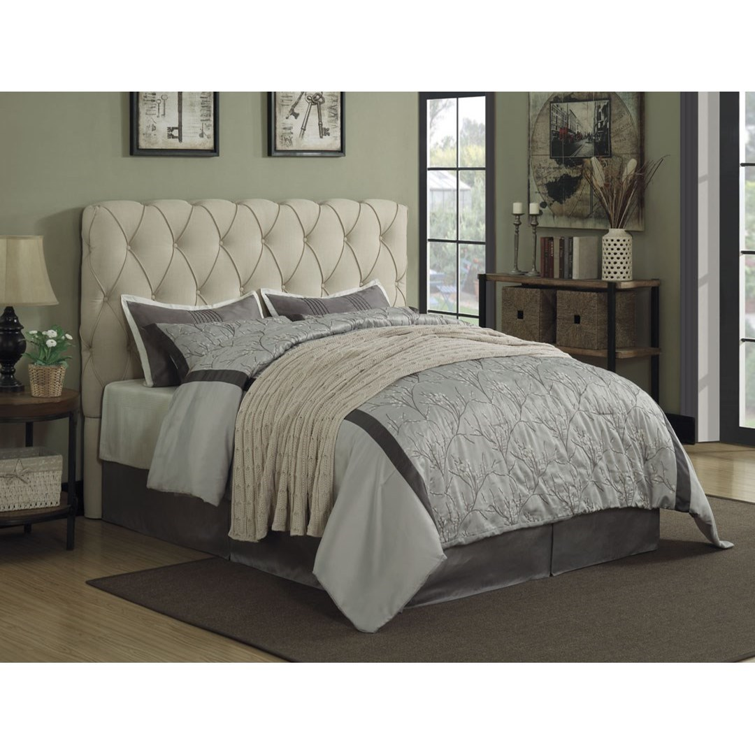 Bed Headboard Elsinore Upholstered Full Bed With Button Tufting Headboard Only By Coaster At Dunk Bright Furniture