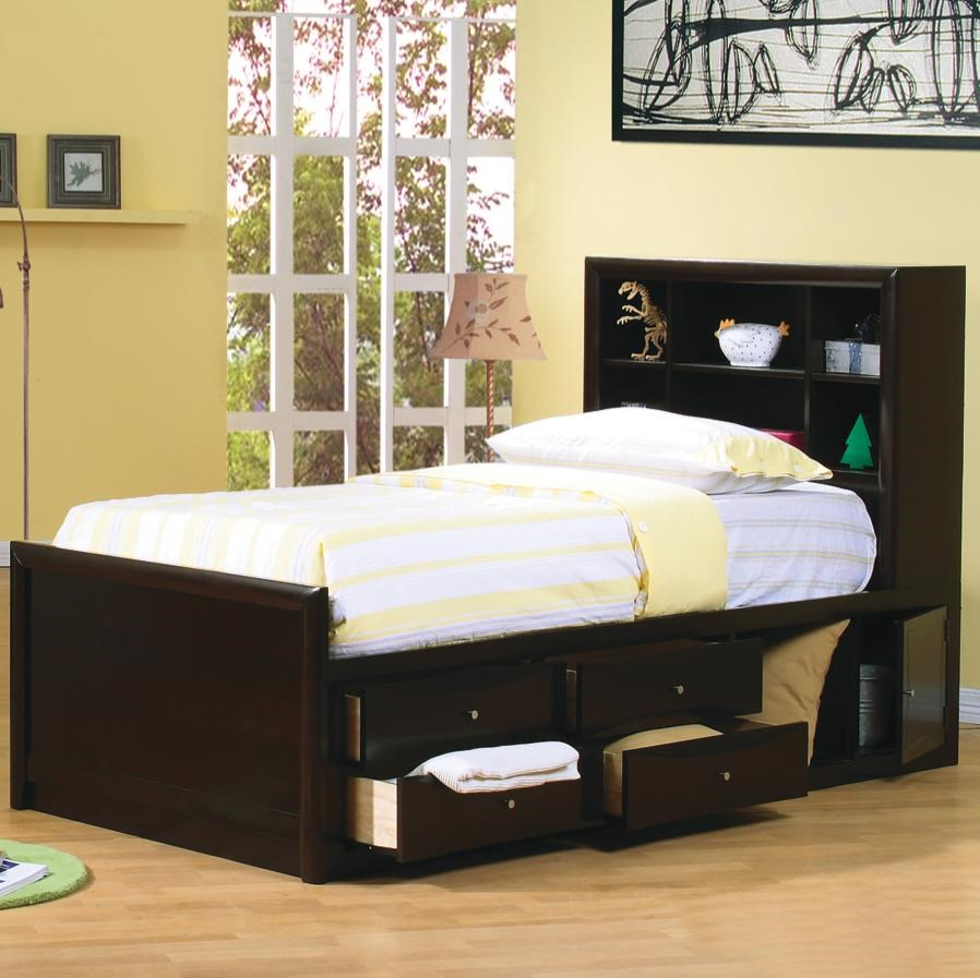 Bookcase Bed Phoenix Twin Bookcase Bed With Underbed Storage By Coaster At Michael S Furniture Warehouse