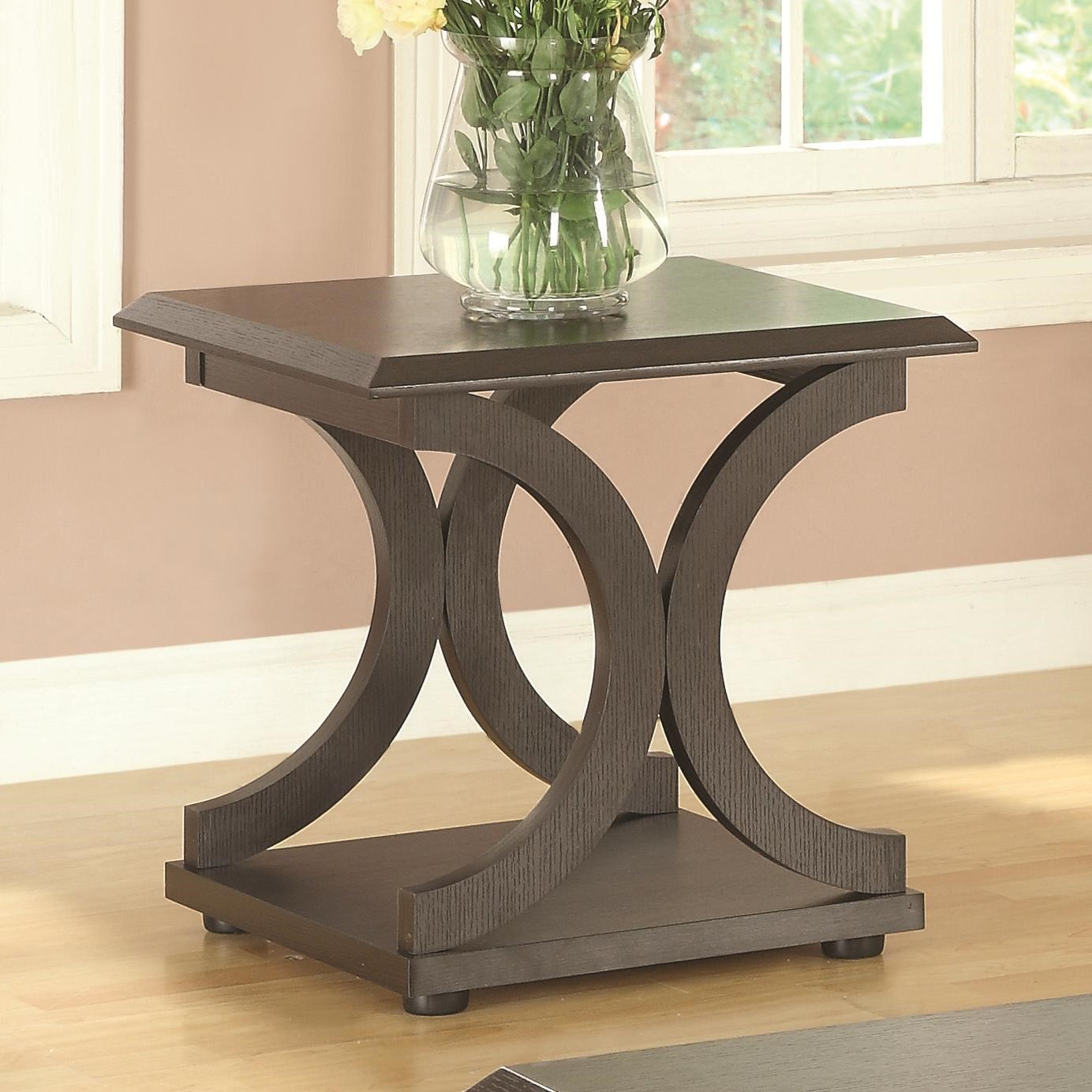End Table For Living Room 703140 C Shaped End Table By Coaster At Value City Furniture