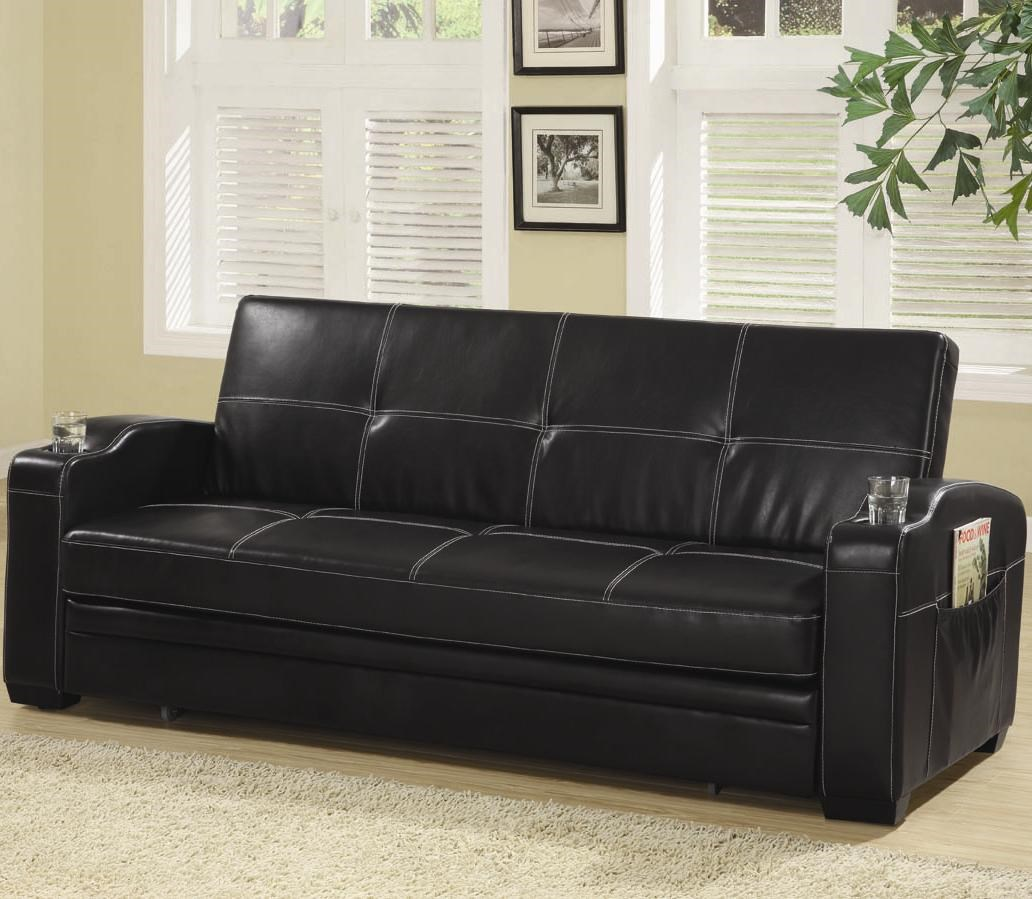 Faux Leather Sofa In A Box Coaster Sofa Beds And Futons Faux Leather Sofa Bed With Storage