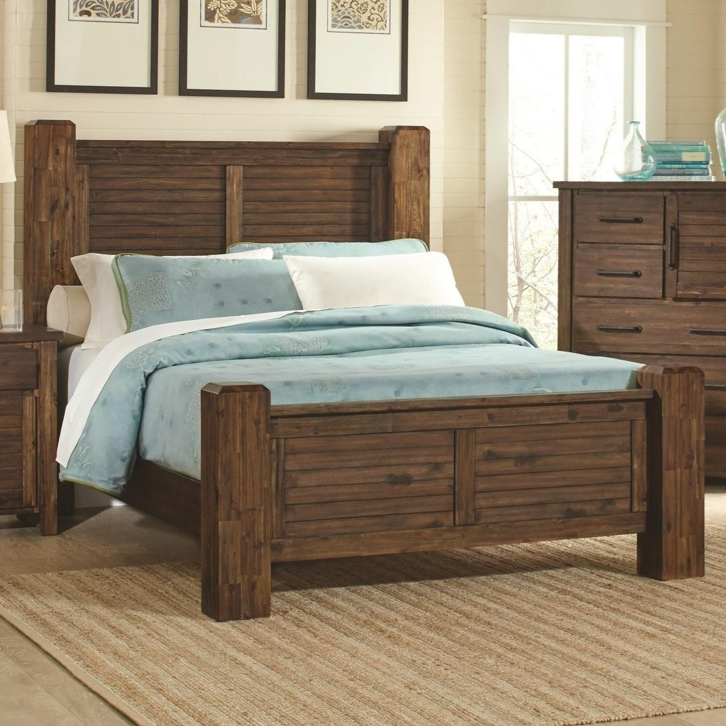 King Bed With Posts Coaster Sutter Creek King Bed With Block Posts Adcock Furniture