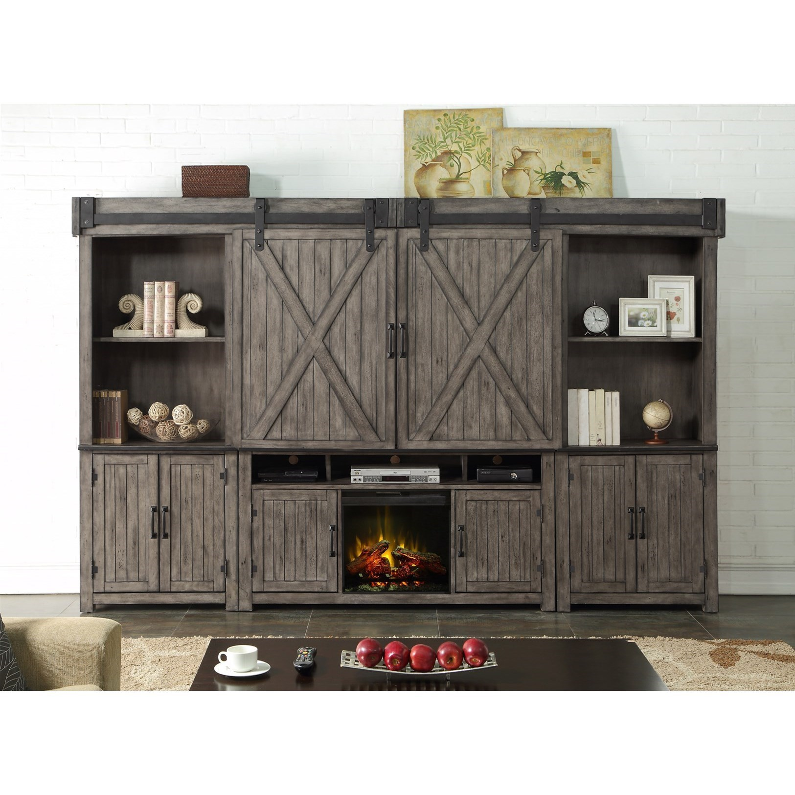 Fireplace Wall Units Storehouse Collection Fireplace Entertainment Wall Unit With Wire Management By Legends Furniture At Wayside Furniture